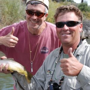 Fly fishing Colorado River