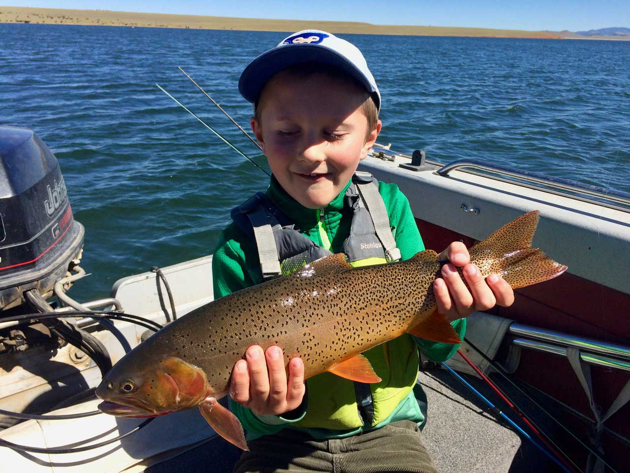 trout fishing with kids