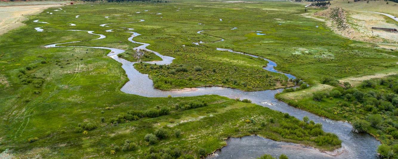 winding river aerial